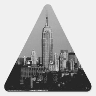 ¡Atontamiento! Empire State Building New York City Calcomanías Triangulos