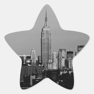 ¡Atontamiento! Empire State Building New York City Calcomanía Forma De Estrella Personalizada
