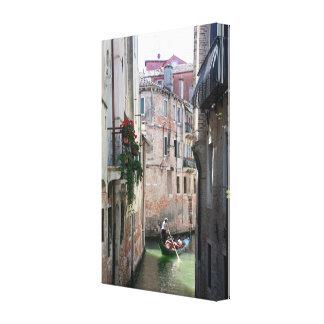 ¡Atontamiento! Góndola Venecia Impresión En Lona Estirada