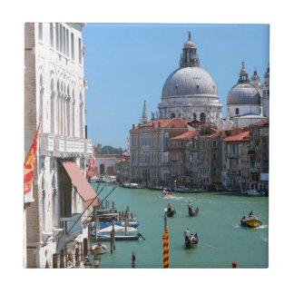¡Atontamiento! Gran Canal Venecia Azulejo Cuadrado Pequeño
