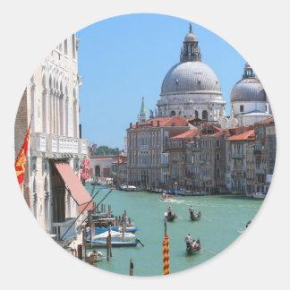 ¡Atontamiento! Gran Canal Venecia Etiqueta Redonda