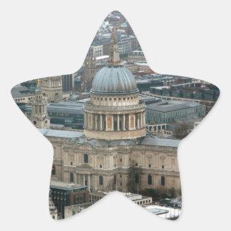 ¡Atontamiento! La catedral Londres de San Pablo Calcomanías Forma De Estrellaes Personalizadas