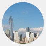 Atontamiento New York City los E.E.U.U. Pegatina Redonda