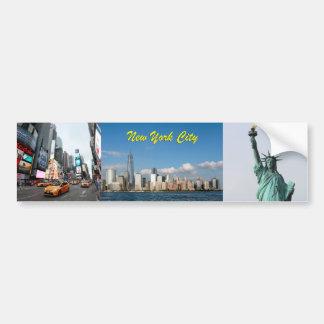Atontamiento New York City los E.E.U.U. Pegatina Para Auto