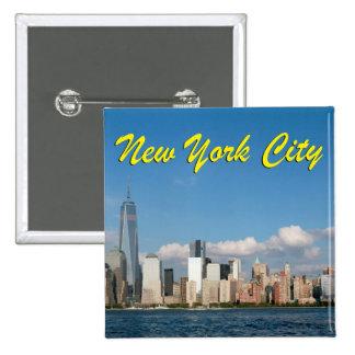 Atontamiento New York City los E.E.U.U. Pin Cuadrada 5 Cm