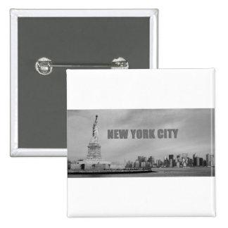 Atontamiento New York City Pin Cuadrada 5 Cm