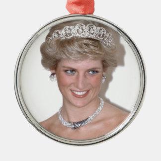 ¡Atontamiento! Princesa Diana de HRH Adorno Navideño Redondo De Metal