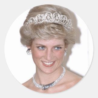 ¡Atontamiento! Princesa Diana de HRH Pegatinas Redondas