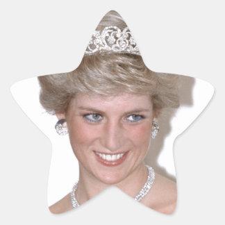 ¡Atontamiento! Princesa Diana de HRH Pegatina Forma De Estrella