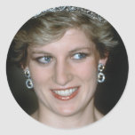 ¡Atontamiento! Princesa Diana de HRH Pegatina Redonda
