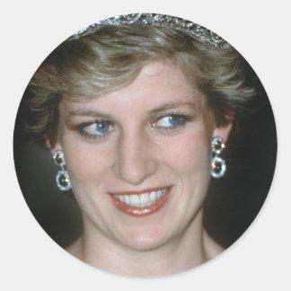 ¡Atontamiento Princesa Diana de HRH Pegatina Redonda