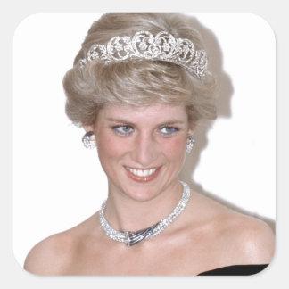 ¡Atontamiento! Princesa Diana de HRH Calcomanías Cuadradases