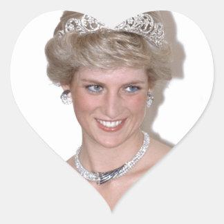 ¡Atontamiento! Princesa Diana de HRH Calcomanías Corazones Personalizadas