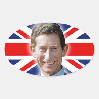 ¡Atontamiento! Príncipe Charles de HRH Pegatina Ovalada