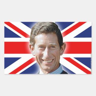 ¡Atontamiento! Príncipe Charles de HRH Pegatina Rectangular