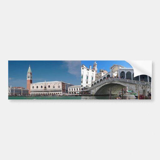 ¡Atontamiento! Venecia cuadrada de St Mark Pegatina Para Auto