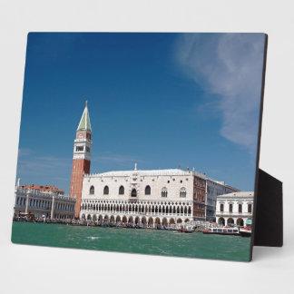 ¡Atontamiento Venecia cuadrada de St Mark Placas Con Foto