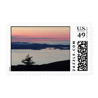 Atop Cadillac Mountain, Acadia National Park Postage Stamp