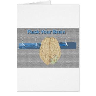 Atormente su cerebro tarjeta de felicitación