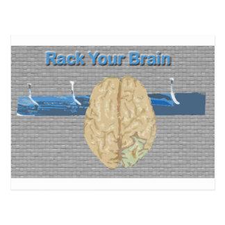 Atormente su cerebro tarjeta postal