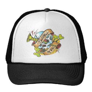 Atorníllele gorra del cráneo