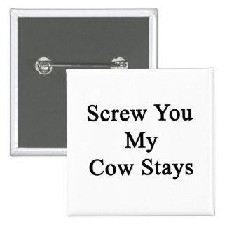 Atorníllele mis estancias de la vaca pins