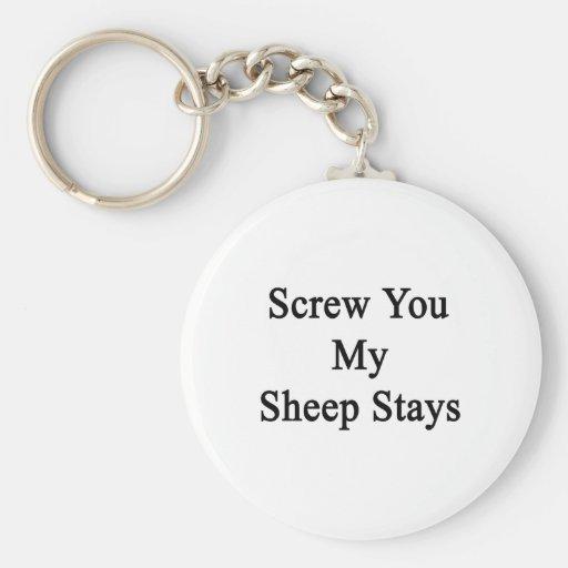 Atorníllele mis estancias de las ovejas llaveros