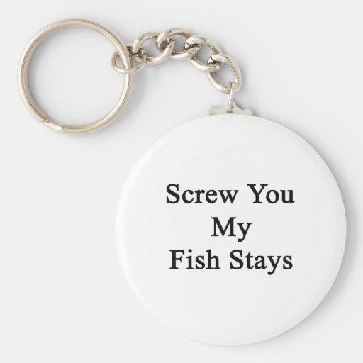 Atorníllele mis estancias de los pescados llavero redondo tipo pin