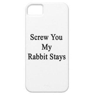 Atorníllele mis estancias del conejo iPhone 5 Case-Mate cárcasas