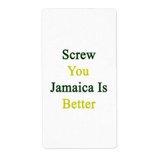 Atorníllele que Jamaica es mejor Etiquetas De Envío