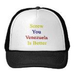 Atorníllele que Venezuela es mejor Gorros Bordados