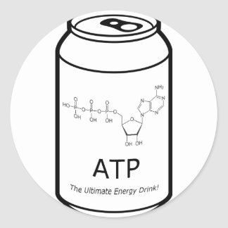 ATP Energy Drink Classic Round Sticker