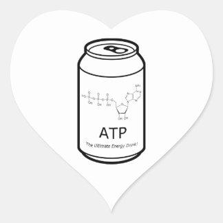 ATP Energy Drink Heart Sticker