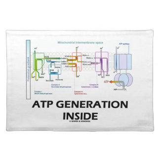 ATP Generation Inside Electron Transport Chain Cloth Placemat