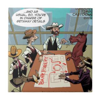 Atracador de bancos divertido del caballo