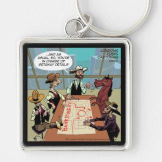 Atracador de bancos divertido del caballo llaveros personalizados