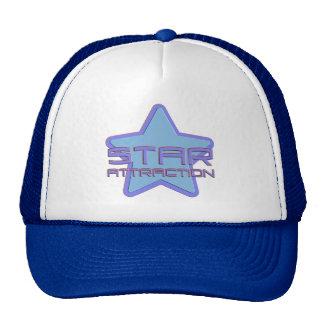 Atracción de la estrella gorras