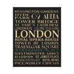 Atracciones de Londres Impresiones En Lona Estiradas