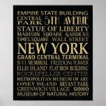 Atracciones de Nueva York Poster