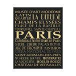 Atracciones de París Lona Estirada Galerias
