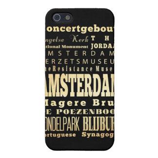 Atracciones y lugares famosos de Amsterdam iPhone 5 Fundas