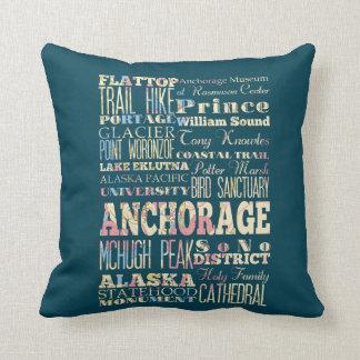Atracciones y lugares famosos de Anchorage, Alaska Cojín