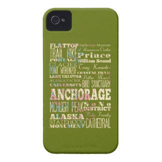 Atracciones y lugares famosos de Anchorage Alaska Case-Mate iPhone 4 Cárcasa