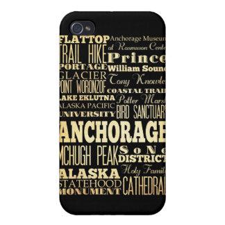 Atracciones y lugares famosos de Anchorage Alaska iPhone 4 Cárcasa