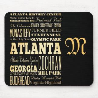 Atracciones y lugares famosos de Atlanta, Georgia Mouse Pad