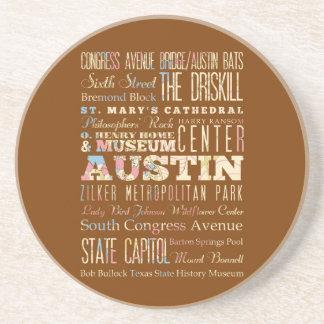 Atracciones y lugares famosos de Austin, Tejas Posavaso Para Bebida