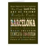 Atracciones y lugares famosos de Barcelona, España Felicitacion