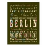 Atracciones y lugares famosos de Berlín, Alemania Tarjetas Postales