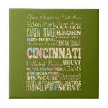 Atracciones y lugares famosos de Cincinnati, Ohio Teja Ceramica