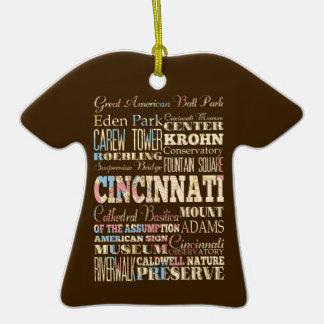 Atracciones y lugares famosos de Cincinnati, Ohio Adorno De Cerámica En Forma De Playera